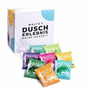 Set a bombe de douche aromatique a 16 pièces, avec 8 parfums naturels cadeau de détente aromathérapie avec huiles essentielles pour femme et homme de Waltz7