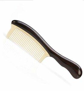 SHAOXI Nouvelle dent Dense aux pellicules Pas de Carte, ne blessez Pas Le Peigne à Cheveux Cisailles et Ciseaux (Color : Beige)