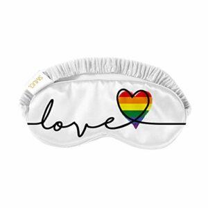SMUG Masque de sommeil/masque pour les yeux super doux, imprimé Pride Love
