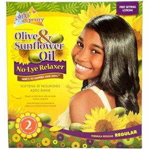 Sof n'Free Kit Défrisant pour Enfants sans Soude Formule Extra Douce à l'Huile d'Olive Pure pour Cheveux Normaux
