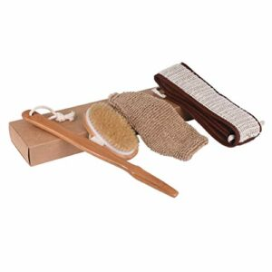 SUPVOX Kits de gant de gant de brosse de serviette de salle de bains de brosse de douche de corps de bain sec pour adultes 3pcs