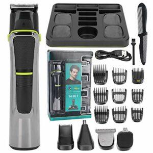 Tondeuse à cheveux, tondeuse à cheveux professionnelle 5 en 1 pour hommes, rasoir à cheveux électrique Tondeuse à cheveux Tondeuse à cheveux de nez Dispositif d'épilation Machine de coiffure Tondeuse