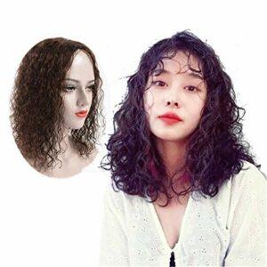 Toppers de Couronne de Cheveux bouclés pour Femmes pour Femmes Accessoires de Maquillage de Cheveux Humains 14 '