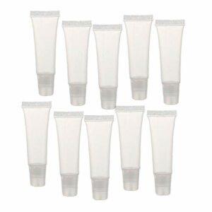 Tubes Container, 36pcs Mini Lip Gloss Vider Clair Baume Gloss Tubes Container Lip Doux Tubes de Maquillage pour Les Filles Box Femmes