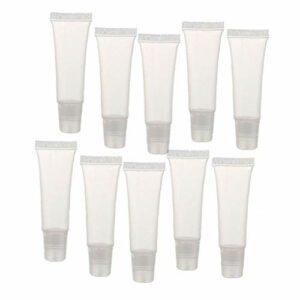 Uayasily 8g Lip Gloss Tubes Mini Clair Lip Gloss Balm Videz Container Doux Tubes Maquillage Boîte pour Femmes Filles 36 Pcs