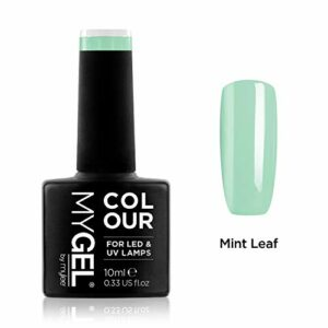Vernis à ongles MyGel, de MYLEE (10ml) MG0063 – Mint Leaf Manucure UV/LED Nail Art Pédicure pour un usage professionnel dans le salon et à la maison – Durable et facile à appliquer