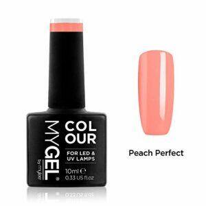 Vernis à ongles MyGel, de MYLEE (10ml) MG0077 – Peach Perfect Manucure UV/LED Nail Art Pédicure pour un usage professionnel dans le salon et à la maison – Durable et facile à appliquer