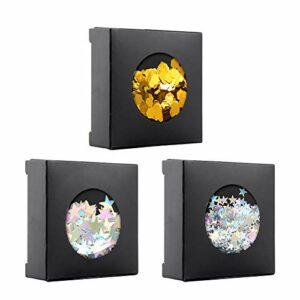 Visage Glitter Chunky Glitters – 3 boîtes Glitter Set – Safe pour le corps cosmétique Glitter cheveux ongles yeux fard à paupières Maquillage Art décoratif Chunky Glitter Set corps cosmétiques