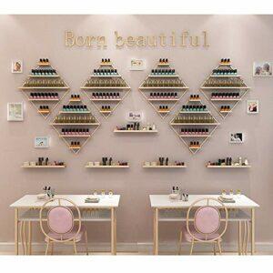 Wall bracket Porte-Vernis à Ongles Mural, Présentoir cosmétique de Grande capacité à 5 Couches, Cadre décoratif en métal pour Salon de beauté