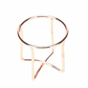 weichuang Support pour houppette à poudre de maquillage, éponge en alliage (couleur : 1 pièce or rose)