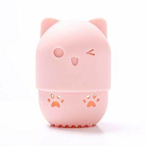weichuang Support pour houppette à poudre, éponge de maquillage, boîte de séchage portable en silicone souple (couleur : 01)