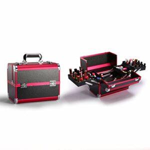 W-Lynn Boîte de Rangement cosmétique Professionnelle, boîte de Rangement cosmétique portative Multicouche de Grande capacité, boîte de Rangement de Maquillage pour Cils beauté des Ongles,B