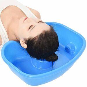 WPY Bassin de Lavage de Cheveux, Bassin pour Laver Les Cheveux,Bacs pour shampooing et Soins, Permet de Laver Les Cheveux au lit,pour Les Personnes blessées, âgées, handicapées