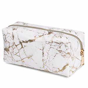 Xinlie étanche Sac de Voyage Trousse de Toilette en marbre Beauté Voyage cosmétique Sac Brosse de Maquillage Sac Marble Cosmétique Maquillage Sac Portable Trousse De Toilette pour Femmes Et Fille