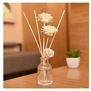 XLGX Parfum 50ml – Fragrance Fraîche et Durable – avec 3 Bâtonnets Volatils en Rotin, 1 Boule en Rotin, 2 Fleurs d'aromathérapie – Accueil – Cuisine – Bain – Bureau – Restaurant (I)