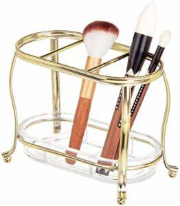 XUYI Organisateur de Maquillage Support élégant pour pinceaux de Maquillage – Support d'accessoires cosmétiques – en Acier Inoxydable