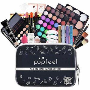 YEKKU Kit de maquillage professionnel, kit de maquillage tout-en-un pour débutant, portable, boîte de rangement pour femmes, adolescentes, adultes