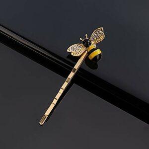 YHN Kawaii Mini Abeille Diamant Pince à Cheveux en métal Bandeau Peigne épingle Barrette épingle à Cheveux Accessoires de Coiffure