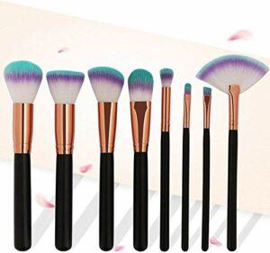 YNNB Pinceaux De Maquillage 8 Rose Gold Tube Pinceau De Maquillage Haute Qualité Multifonctionnel Outils De Beauté pour Les Femmes Filles (Couleur, Blanc), Noir
