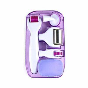 YOHAPPY Rouleau Derma Roller & Ice Roller 6 en 1, Micro-Aiguille en Titane pour Régénération de la peau, Anti-âge, Massage de la douleur