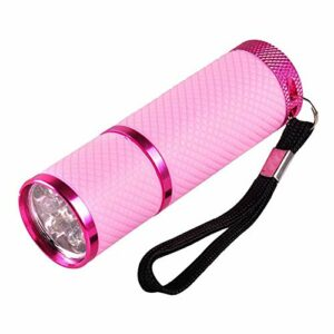 zhiang Mini lampe de poche LED UV, sécheur d'ongles en gel, lampe UV portable pour le séchage rapide du gel. Combinaison pour la photothérapie des ongles, identification des bijoux, etc.