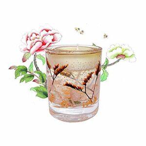 ZXJ Bougies parfumées, Cire de soja sans fumée, Cadeaux d'aromathérapie de Grande Taille pour la Saint-Valentin, Yoga de Bain de la fête des mères d'anniversaire,Blanc