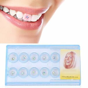 10 pièces Bijou de Bijoux de dent, décoration d'ongle de dent Dentaire Claire Cristal gemme Strass décor(Coloré)