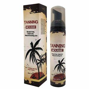 100ml Self Tanner, Self Tan Lotion, Lotion de bronzage naturel à séchage rapide Lotion de bronzage longue durée hydratante et hydratante pour le maquillage du corps de la peau bronzante plus foncée