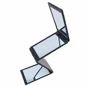 1pc Creative 4 Panneau Miroir de maquillage Miroir Extendable pliant Miroir Miroir Portable Concise Miroir pour fille