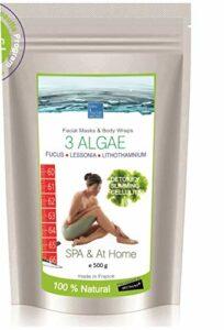 3 Algues Enveloppement Minceur Anti-cellulite maison & SPA ● Concentré de Mer pour le Visage, Corps et Bain ● Soin Peau Grasse, Acné ou Détox ● 500g