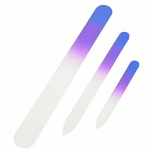 3 PCS Crystal Glass Nail Files MANUICURE SET TOUCHE PURPLE/ROSK Outils de maquillage Fashion Nail Outils CHAOCHAO