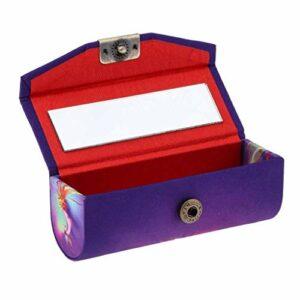 AOIWE Boîte à Rouge à lèvres Miroir avec boîte de Timbres de Bijoux HD Miroir, modèle de Motif de Phoenix Simple rétro, Sac à Main pour Miroir de beauté Portable (Size : Button)