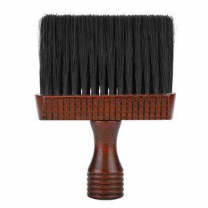 Barbier Cou Plumeau Brosse Professionnel Doux Cou Visage Épilateur Brosse à Cheveux Nettoyage de La Poussière Brosse de Balayage (Grand)