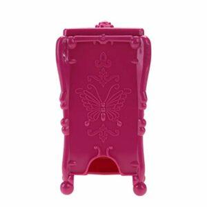 Boîte de rangement – 3 couleurs cosmétique maquillage coton pad organisateur boîte de rangement Nail Art essuyer coton outils de maquillage(Rose rouge)