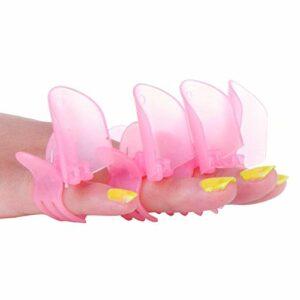 Bureze 10pcs/lot de clips de protection de vernis à ongles Vernis à ongles manucure outils couvertures de protection Rose