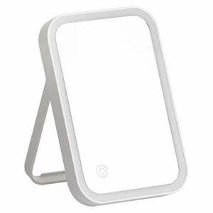 CENPEN Miroir de toilette de voyage grossissant et lumineux – Grossissement x3 pour une application parfaite du maquillage et une épilation des sourcils – Miroir compact à LED