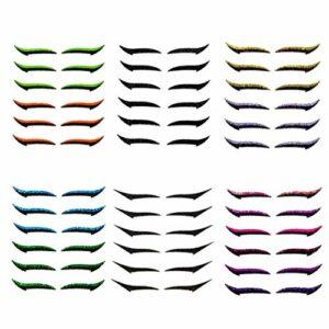 Chagoo 6 Paires d'autocollants d'eyeliner réutilisables Maquillage, Double Bande de paupière Invisible Auto-adhésif Autocollant de Bande de Ligne pour Les Yeux Outil de Maquillage pour Les (ABCDEF)
