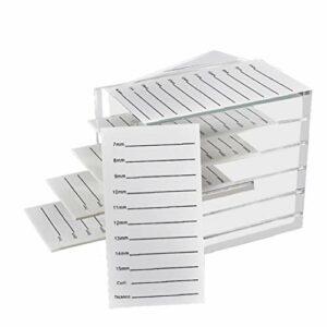 Cil Affichage de stockage de conteneurs Faux Cils cas de stockage Organisateur de cas Protect 5 couches blanches, Outils de maquillage