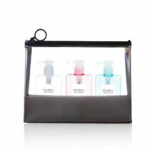 Cosmétiques Vide 3pcs / Set Savon Distributeur de savon Bouteille de salle de bains Shampooing bouteille de presse de type lotion Savon de carrosserie de la bouteille vide Set d'outils de voyage 100ml