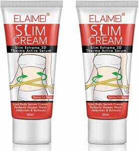 Creme Amincissante Puissante, [2 Pcs] creme anti cellulite, Élimination efficace de la cellulite corporelle, Améliore les lignes du corps gonflées