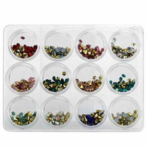 Cristaux scintillants Perles Décorations Nail Art AB Diamants à ongles pour le changement quotidien d'image pour les débutants en Nail Art pour le bricolage des ongles à usage professionnel
