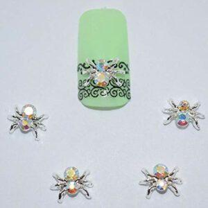 Décorations 3D pour les ongles araignée rouge à lèvres,Spider