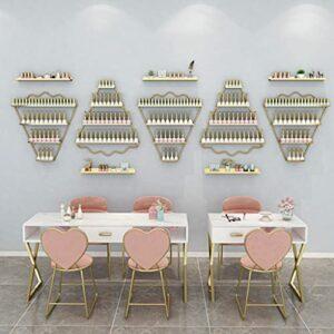 DISPLAY STAND ZYY~ Étagère murale en métal pour vernis à ongles, affichage fixe pour salon de beauté, parfum, cosmétiques/rouge à lèvres