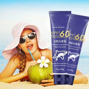 Facial Sunscreen, KISSION Crème Solaire pour Femme UV Radiation Blanchissant Soin du Visage pour le Visage Supprimer les Crèmes Solaires Crèmes Après Soleil