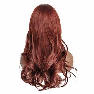 Fenteer Perruque Cheveux Moyenne Longe Bouclés Naturel Postiche Haute Densité Cosplay Femmes Synthétiques Fille – #1