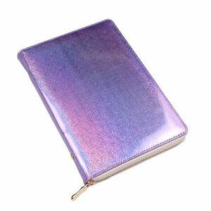 FingerAngel 72 emplacements holographiques pour plaques à ongles – Organiseur de pochoirs rectangulaires, carrés et ronds – Accessoire de manucure – Violet