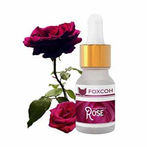 FoxCoh, Rose 10ml, Huiles Essentielles Naturelles de Qualité – Pipette en verre – Idéal pour la diffusion, bain aromatique… – Gamme Fragrance