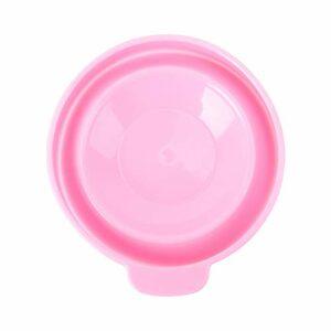 FRCOLOR Bol de Maquillage en Silicone Pvc Pliant Bricolage Couvercle Du Visage Bol de Mélange pour Femmes Filles Maison Beauté Soins de La Peau Salon Outils Approvisionnement (Rose)