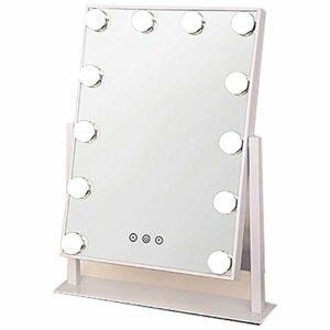 FTFTO Miroir de la Vie de Bureau Miroir de Maquillage léger de Protection des Yeux Doux avec Miroir de Maquillage léger Image Claire sans déformation Salle de Bain