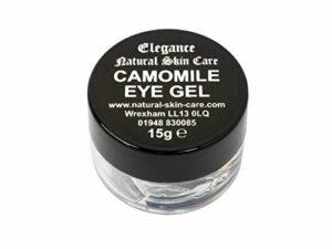 Gel Contour des Yeux Camomille 15g. Fabriqué par Elegance Natural Skin Care en Grande-Bretagne